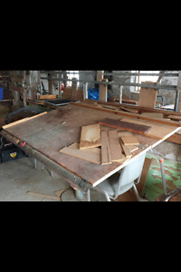 Large drafting table