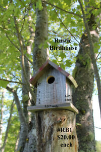 Rustic Birdhouses and Stars