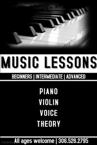 Private Music Lessons - Register Now! Regina Regina Area image 1