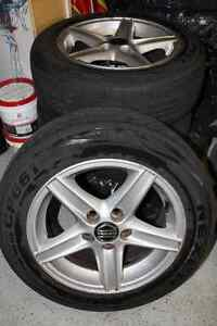 Used Volvo V70-98 Tires and Rims - Set of 4 London Ontario image 1