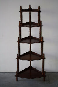 Solid Walnut Corner Curio Display