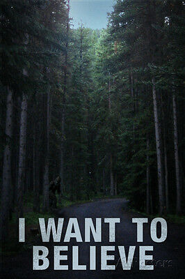 Bigfoot I Want To Believe Poster Print  13X19