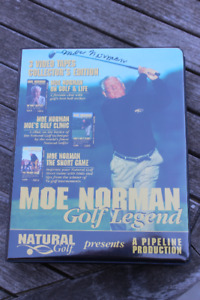 SUPER RARE GOLF MEMORABILIA- FULL MOE NORMAN SIGNATURE ITEM.