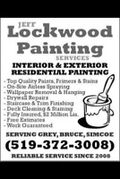 LOCKWOOD PAINTING - THE AREA'S TOP PAINTERS