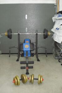 bench press poids haltere