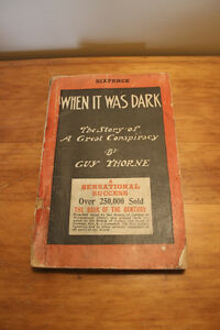 When It Was Dark. The Story of A Great Conspiracy - 1911 London Ontario image 1