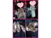 Mother of the Bride dress, jacket, shoes and bag
