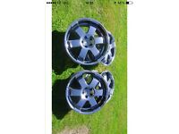 "Wolfrace 20"" 5x112 alloys in lovely condition"