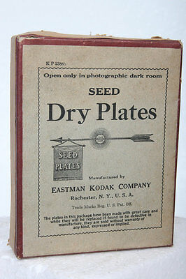 Antique Seed Dry Glass Plate Box by Kodak,  film vintage 3x4 photo camera for sale  Shipping to India