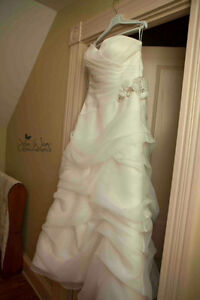 Wedding dress and two bridesmaids dresses