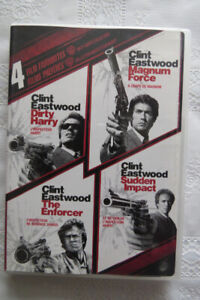 """Clint Eastwood """"Dirty Harry"""" movie collection on DVD"""