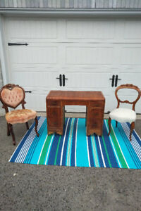 2 ANTIQUE CHAIRS And Vintage Desk ** See EACH PRICE ** ---------