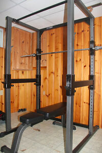 Parabody Squat Rack + Bench + Olympic bar + 280lbs Weight - MINT