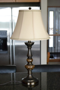 Table Lamp with faux marble