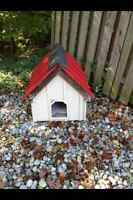 DOG HOUSE with RED STEEL ROOF---located just south of St Thomas