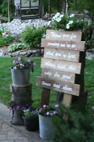 RUSTIC THEMED WEDDING OR SHOWER DECORATIONS