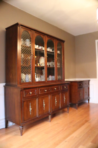 Gibbard China Cabinet and matching Buffet Table