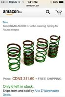 91-00 integra lowering springs