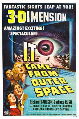 1953 IT CAME FROM OUTER SPACE 3-D VINTAGE MOVIE POSTER PRINT STYLE E 36x18 9 MIL