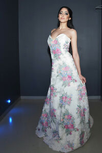Custom- MADE IN CANADA - Floral print Wedding gown