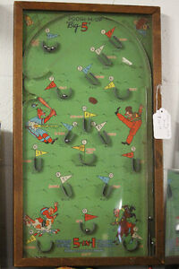 1930S NORTH WESTERN PROD BAGATELLE POOSH -M- UP 5 IN 1 GAME