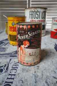 1920'S NEVER SCRATCH TIN CAN