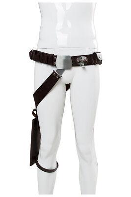 Star Wars Han Solo Leather Belt Cosplay Costume Props Leg Pack Gun package Adult (Han Solo Costume Belt)