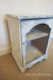 White Vintage Drinks Cabinet TV Shabby Chic