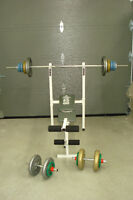 bench press poids haltere