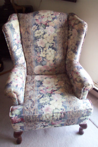 Wingback chair. chair was made by SuperStyle furniture Ltd.