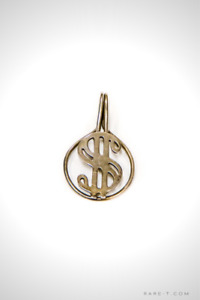 Vintage Pure Silver 'MONEY SIGN' Money/Card Clip