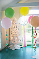 Balloons for weddings, baby showers, birthdays etc