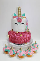 Birthday cakes with custom cake topper at no additional cost...