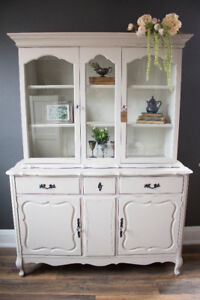 Refinished French Provincial Vintage Hutch