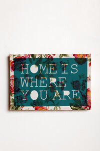 """Urban Outfitters """"Home"""" Quote Canvas Art Print"""