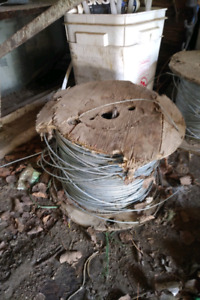 Smooth galvanized wire spool