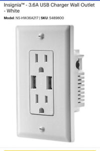 INSIGNIA 3.6A USB Charger wall outlet