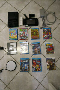 Wii u Console which includes 10 games and a  wii mote