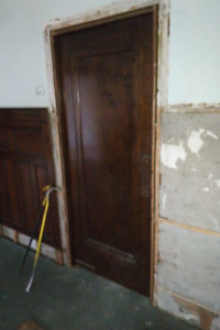 Antique Door - 32(w) x 79, Indoor, Swinging, Gum Wood & Painted