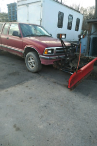 Chevy S10 pickup with Plow