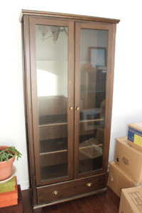 China display cabinet with glass shelves