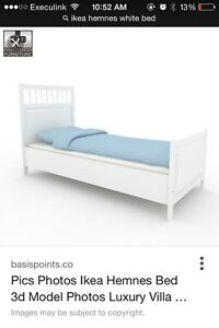 Twin ikea bed with mattress  London Ontario image 1