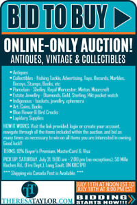 ONLINE ONLY AUCTION - VINTAGE, ANTIQUES, AND COLLECTABLES