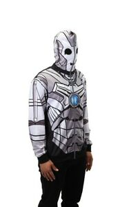 Doctor Who Cyberman zip up hoodie sweatshirt