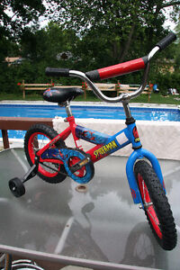 REDUCED PRICE: Spiderman bike and helmet - reconditioned London Ontario image 2