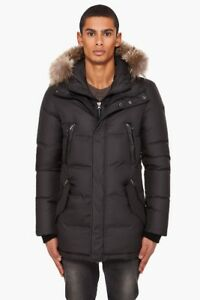 AUTHENTIC MENS MACKAGE LUXURY BLACK WINTER PARKA SIZE 44 Large