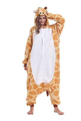 Women Men Unisex Adult Onesie0 Animal Giraffe Kigurumi Pajamas Cosplay Costume - Giraffe Costume Men