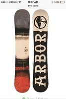 Arbor board and burton bindings