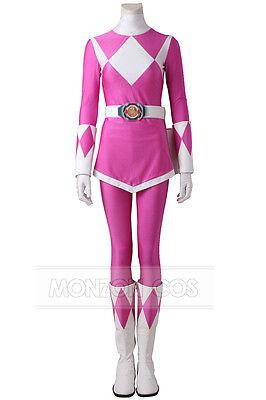 Zyuranger Mei Ptera Ranger Costume Pink Cosplay Costume Halloween Full Size Suit