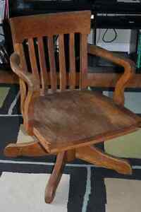 Cool antique swivel chair